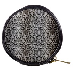 Patterns Wavy Background Texture Metal Silver Mini Makeup Bags
