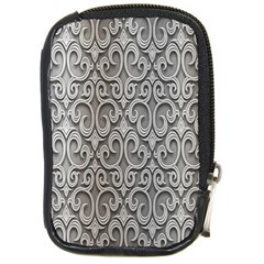 Patterns Wavy Background Texture Metal Silver Compact Camera Cases