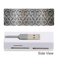 Patterns Wavy Background Texture Metal Silver Memory Card Reader (stick)