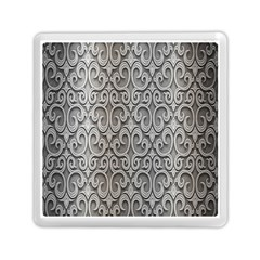 Patterns Wavy Background Texture Metal Silver Memory Card Reader (square)