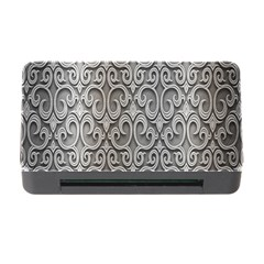 Patterns Wavy Background Texture Metal Silver Memory Card Reader with CF
