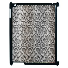 Patterns Wavy Background Texture Metal Silver Apple iPad 2 Case (Black)