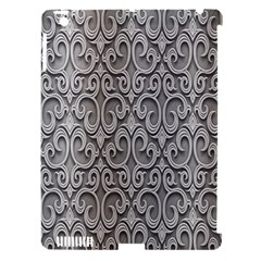 Patterns Wavy Background Texture Metal Silver Apple iPad 3/4 Hardshell Case (Compatible with Smart Cover)