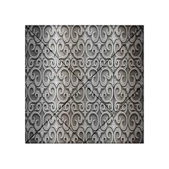 Patterns Wavy Background Texture Metal Silver Acrylic Tangram Puzzle (4  X 4 )