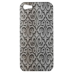 Patterns Wavy Background Texture Metal Silver Apple iPhone 5 Hardshell Case