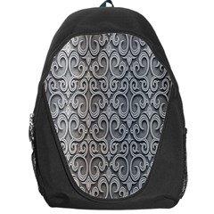 Patterns Wavy Background Texture Metal Silver Backpack Bag