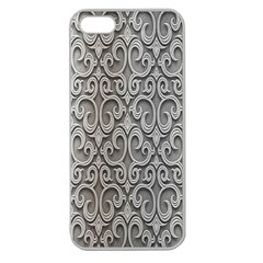 Patterns Wavy Background Texture Metal Silver Apple Seamless iPhone 5 Case (Clear)