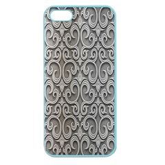 Patterns Wavy Background Texture Metal Silver Apple Seamless iPhone 5 Case (Color)