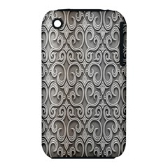 Patterns Wavy Background Texture Metal Silver iPhone 3S/3GS