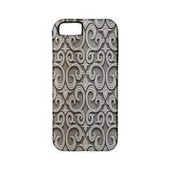 Patterns Wavy Background Texture Metal Silver Apple Iphone 5 Classic Hardshell Case (pc+silicone)
