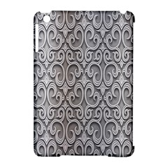 Patterns Wavy Background Texture Metal Silver Apple iPad Mini Hardshell Case (Compatible with Smart Cover)