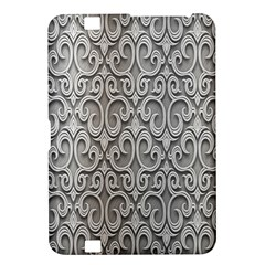 Patterns Wavy Background Texture Metal Silver Kindle Fire HD 8.9