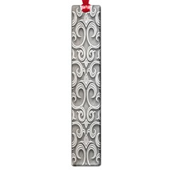 Patterns Wavy Background Texture Metal Silver Large Book Marks