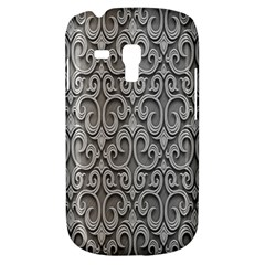 Patterns Wavy Background Texture Metal Silver Galaxy S3 Mini