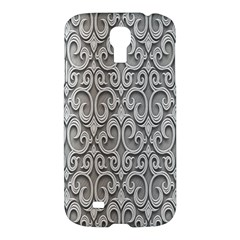 Patterns Wavy Background Texture Metal Silver Samsung Galaxy S4 I9500/I9505 Hardshell Case