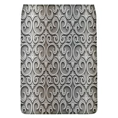 Patterns Wavy Background Texture Metal Silver Flap Covers (L)