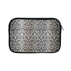 Patterns Wavy Background Texture Metal Silver Apple iPad Mini Zipper Cases
