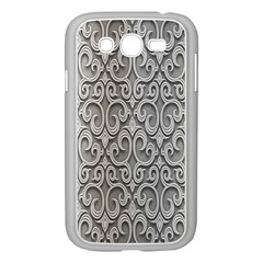 Patterns Wavy Background Texture Metal Silver Samsung Galaxy Grand DUOS I9082 Case (White)