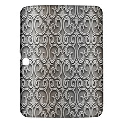 Patterns Wavy Background Texture Metal Silver Samsung Galaxy Tab 3 (10.1 ) P5200 Hardshell Case