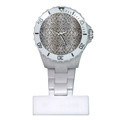 Patterns Wavy Background Texture Metal Silver Plastic Nurses Watch