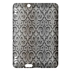 Patterns Wavy Background Texture Metal Silver Kindle Fire HDX Hardshell Case
