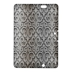 Patterns Wavy Background Texture Metal Silver Kindle Fire HDX 8.9  Hardshell Case