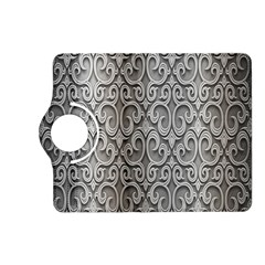Patterns Wavy Background Texture Metal Silver Kindle Fire HD (2013) Flip 360 Case