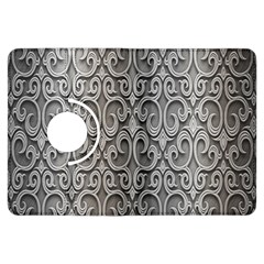 Patterns Wavy Background Texture Metal Silver Kindle Fire HDX Flip 360 Case