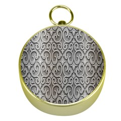 Patterns Wavy Background Texture Metal Silver Gold Compasses