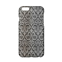 Patterns Wavy Background Texture Metal Silver Apple Iphone 6/6s Hardshell Case