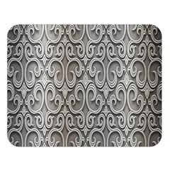Patterns Wavy Background Texture Metal Silver Double Sided Flano Blanket (Large)