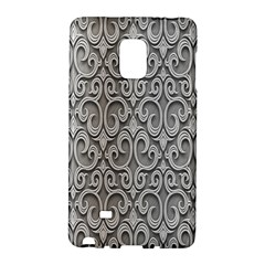 Patterns Wavy Background Texture Metal Silver Galaxy Note Edge