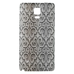 Patterns Wavy Background Texture Metal Silver Galaxy Note 4 Back Case