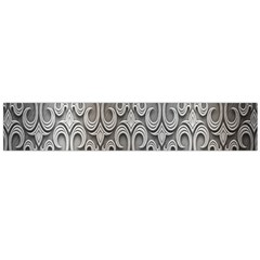 Patterns Wavy Background Texture Metal Silver Flano Scarf (Large)