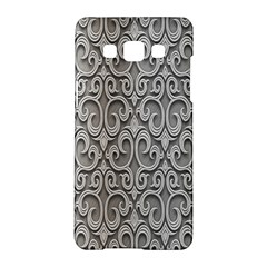 Patterns Wavy Background Texture Metal Silver Samsung Galaxy A5 Hardshell Case