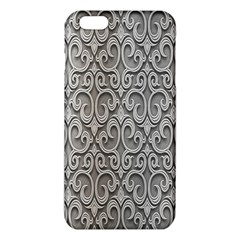 Patterns Wavy Background Texture Metal Silver iPhone 6 Plus/6S Plus TPU Case