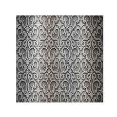 Patterns Wavy Background Texture Metal Silver Small Satin Scarf (Square)