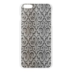 Patterns Wavy Background Texture Metal Silver Apple Seamless iPhone 6 Plus/6S Plus Case (Transparent)