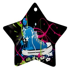 Sneakers Shoes Patterns Bright Ornament (Star)