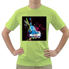 Sneakers Shoes Patterns Bright Green T-Shirt