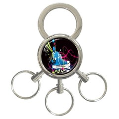 Sneakers Shoes Patterns Bright 3 Ring Key Chains