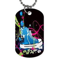 Sneakers Shoes Patterns Bright Dog Tag (One Side)