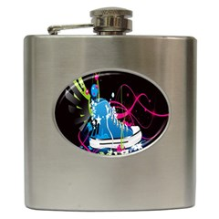Sneakers Shoes Patterns Bright Hip Flask (6 oz)