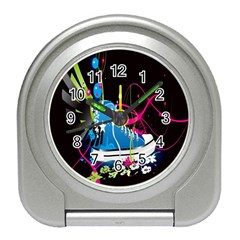 Sneakers Shoes Patterns Bright Travel Alarm Clocks