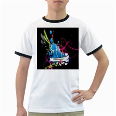 Sneakers Shoes Patterns Bright Ringer T-Shirts