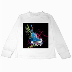 Sneakers Shoes Patterns Bright Kids Long Sleeve T-Shirts