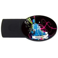 Sneakers Shoes Patterns Bright USB Flash Drive Oval (4 GB)