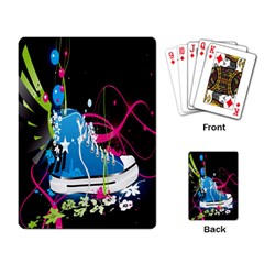 Sneakers Shoes Patterns Bright Playing Card