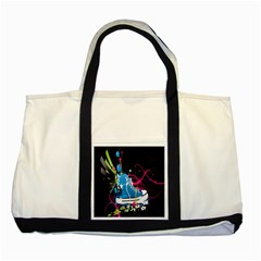 Sneakers Shoes Patterns Bright Two Tone Tote Bag