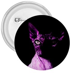 Pink Sphynx cat 3  Buttons